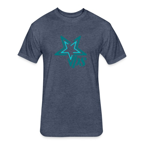 Teal star - Fitted Cotton/Poly T-Shirt by Next Level