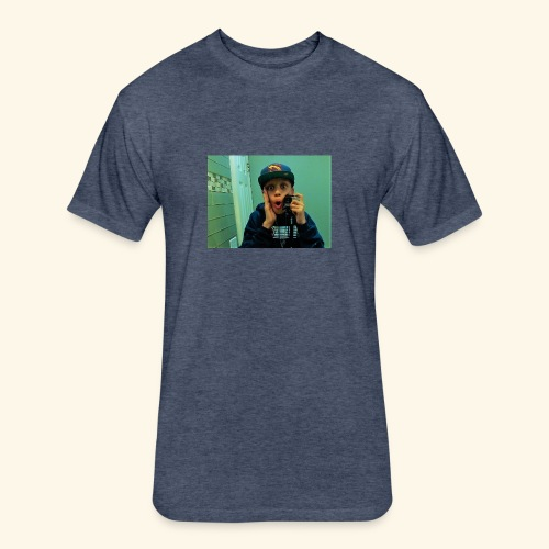 Pj Vlogz Merch - Fitted Cotton/Poly T-Shirt by Next Level