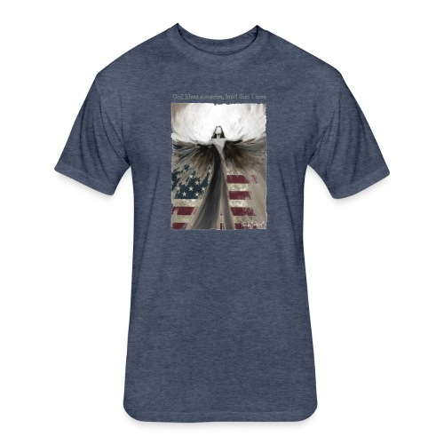 God bless America_design5 - Fitted Cotton/Poly T-Shirt by Next Level