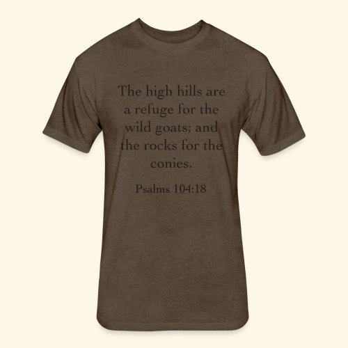 High Hills KJV - Fitted Cotton/Poly T-Shirt by Next Level