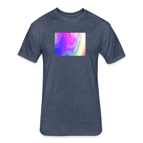 pretty rainbow tee - Fitted Cotton/Poly T-Shirt by Next Level