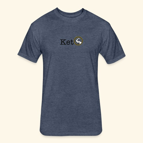 Keto Diet Muscle Gym Wear - Fitted Cotton/Poly T-Shirt by Next Level
