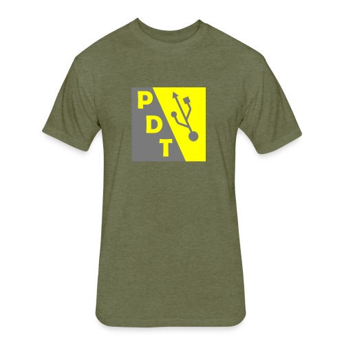 PDT Logo - Fitted Cotton/Poly T-Shirt by Next Level