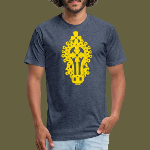 Lasta Cross - Fitted Cotton/Poly T-Shirt by Next Level