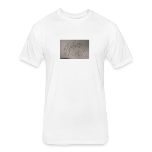 Angel - Fitted Cotton/Poly T-Shirt by Next Level
