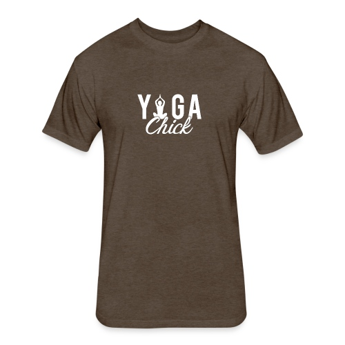 Yoga Fitness Chick - Fitted Cotton/Poly T-Shirt by Next Level