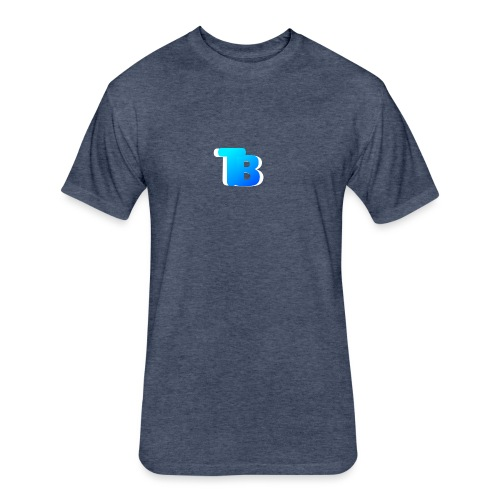 Trublu Overlapping letter Design - Fitted Cotton/Poly T-Shirt by Next Level