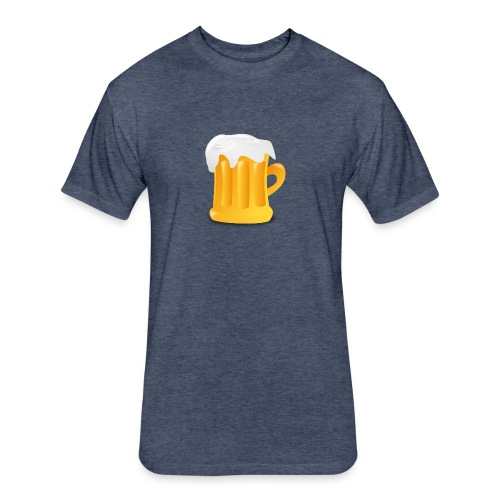 time4beer - Fitted Cotton/Poly T-Shirt by Next Level