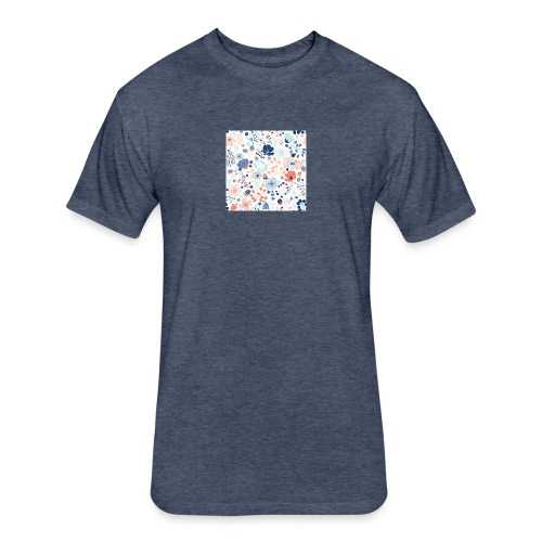 flowers - Fitted Cotton/Poly T-Shirt by Next Level