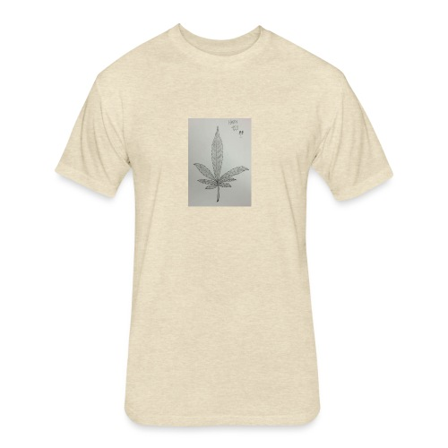 Happy 420 - Fitted Cotton/Poly T-Shirt by Next Level