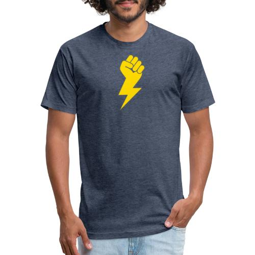 Power Fist - Fitted Cotton/Poly T-Shirt by Next Level