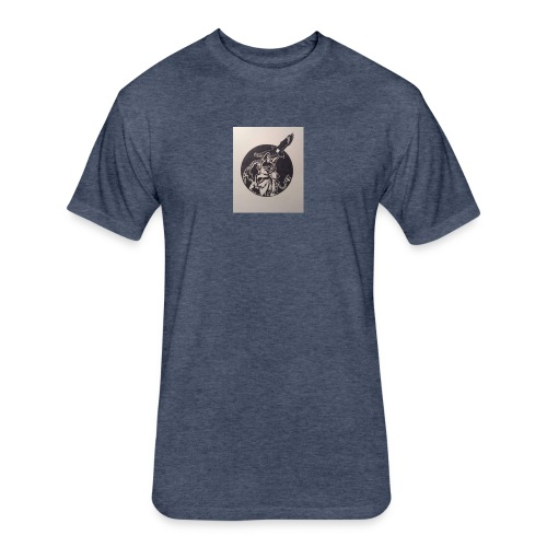 Wolf and Eagle - Fitted Cotton/Poly T-Shirt by Next Level