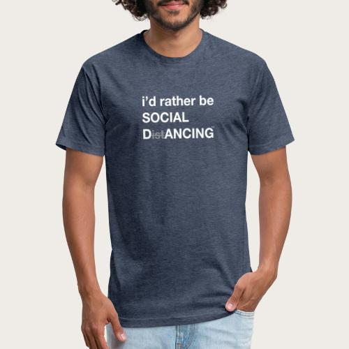 Social Dancing - Fitted Cotton/Poly T-Shirt by Next Level