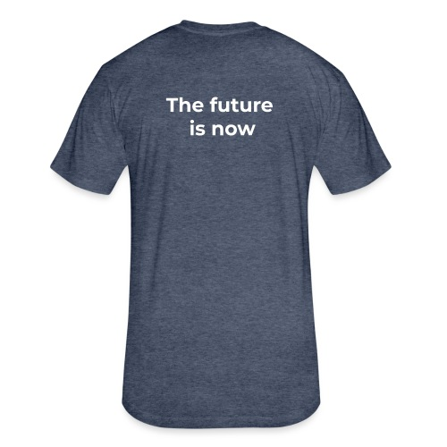 The future is electric/The future is now - Fitted Cotton/Poly T-Shirt by Next Level