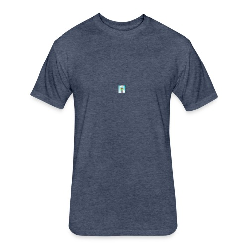 yah yeet merch - Fitted Cotton/Poly T-Shirt by Next Level