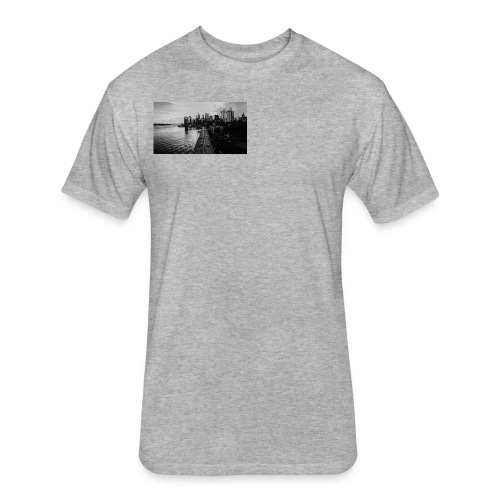 Manhattan Bridge Walkway T-shirt - Fitted Cotton/Poly T-Shirt by Next Level