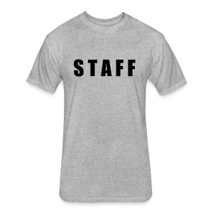 STAFF shirt - Fitted Cotton/Poly T-Shirt by Next Level