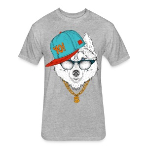 cool husky - Fitted Cotton/Poly T-Shirt by Next Level