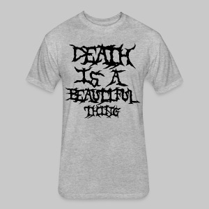 deathisabeautifulthing font - Fitted Cotton/Poly T-Shirt by Next Level