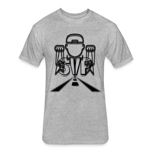 logo 2 4 - Fitted Cotton/Poly T-Shirt by Next Level