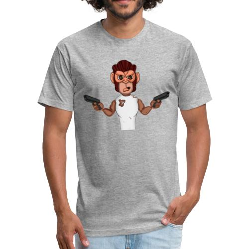 Crazy Monkey Armed - Fitted Cotton/Poly T-Shirt by Next Level