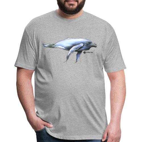 Humpback whale - Fitted Cotton/Poly T-Shirt by Next Level