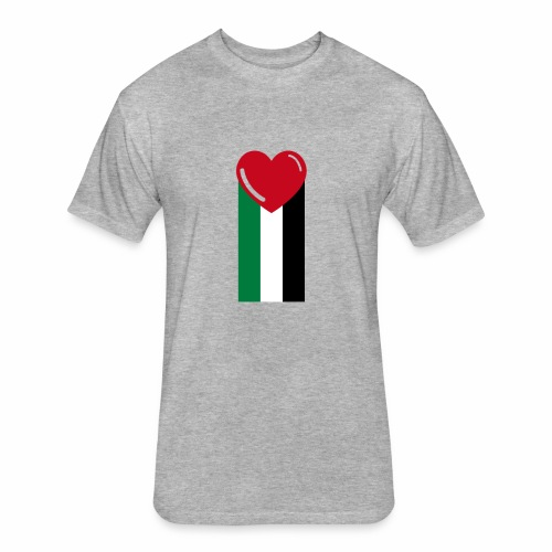 With Love! - Fitted Cotton/Poly T-Shirt by Next Level