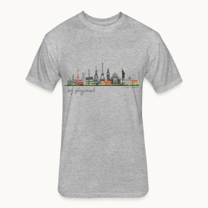 WORLD - MY PLAYGROUND - Carolyn Sandstrom - Fitted Cotton/Poly T-Shirt by Next Level