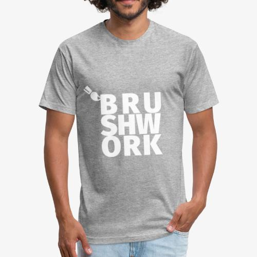 Brushwork Block - Fitted Cotton/Poly T-Shirt by Next Level