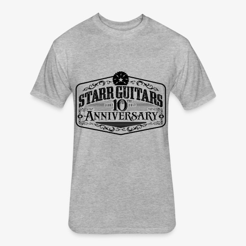 Starr Guitars 10th Anniversary Black Logo - Fitted Cotton/Poly T-Shirt by Next Level
