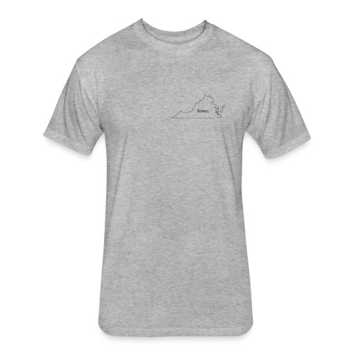 Home - Virginia. - Fitted Cotton/Poly T-Shirt by Next Level