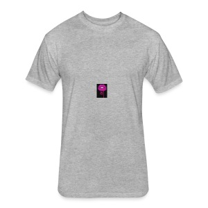 lean kiss - Fitted Cotton/Poly T-Shirt by Next Level