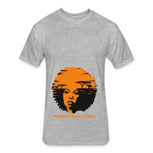 Forte Femme Noire - Fitted Cotton/Poly T-Shirt by Next Level