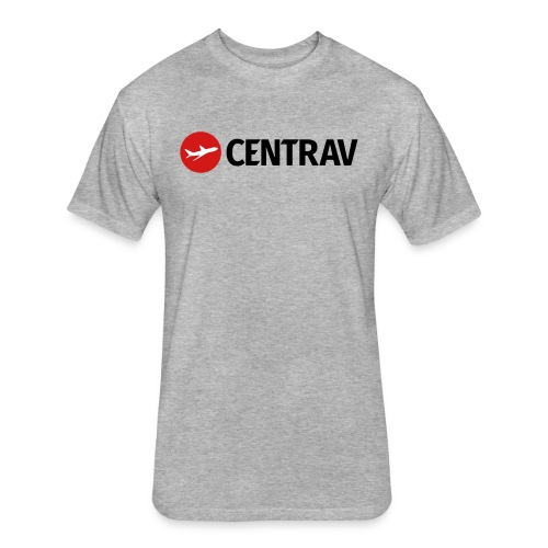 Black Centrav Logo - Fitted Cotton/Poly T-Shirt by Next Level
