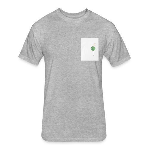 Tree with Crown - Fitted Cotton/Poly T-Shirt by Next Level