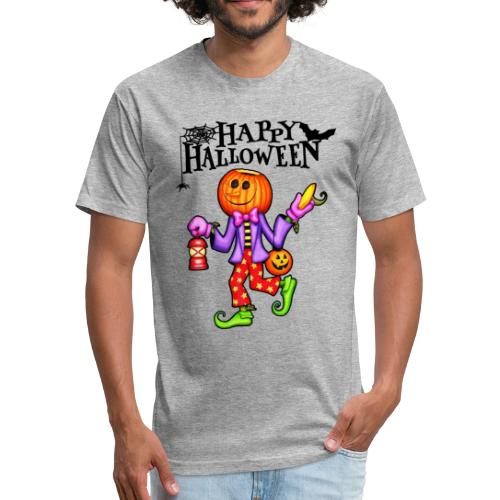 Halloween shirt - Pumpkin shirt - Fitted Cotton/Poly T-Shirt by Next Level