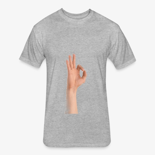 Ok sign - Fitted Cotton/Poly T-Shirt by Next Level