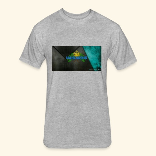 Mango bomb3 - Fitted Cotton/Poly T-Shirt by Next Level