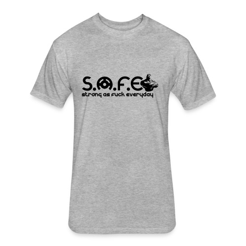 S.A.F.E (Strong Brand) - Fitted Cotton/Poly T-Shirt by Next Level