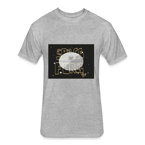Space Force Sketch Tee - Fitted Cotton/Poly T-Shirt by Next Level