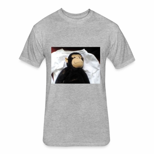 The monkey baconhair no - Fitted Cotton/Poly T-Shirt by Next Level