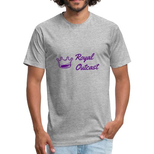 Royal purple Royal Outcast with purple logo - Fitted Cotton/Poly T-Shirt by Next Level