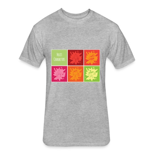 Fruit characters - Fitted Cotton/Poly T-Shirt by Next Level