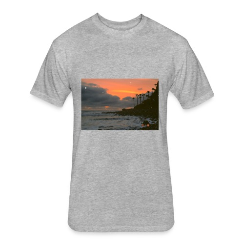 Sunset - Fitted Cotton/Poly T-Shirt by Next Level