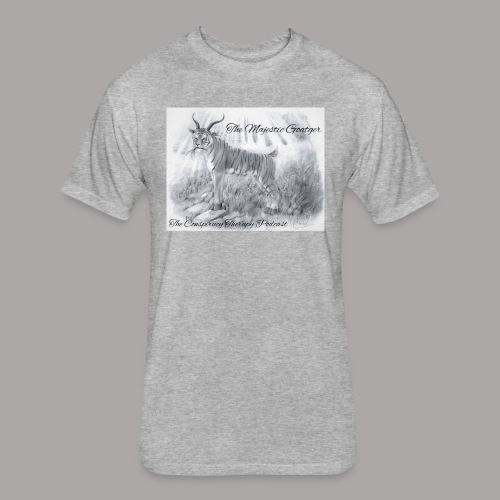 The Majestic Goatger - Fitted Cotton/Poly T-Shirt by Next Level