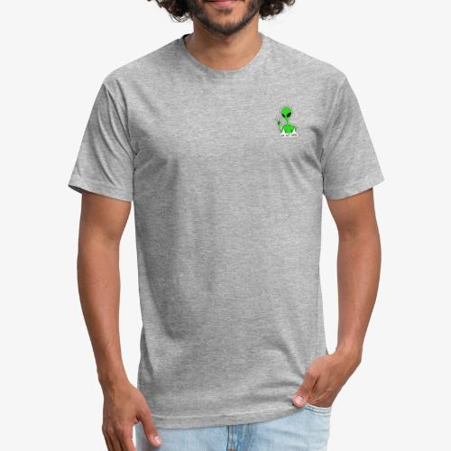 GREEN ALIEN - Fitted Cotton/Poly T-Shirt by Next Level