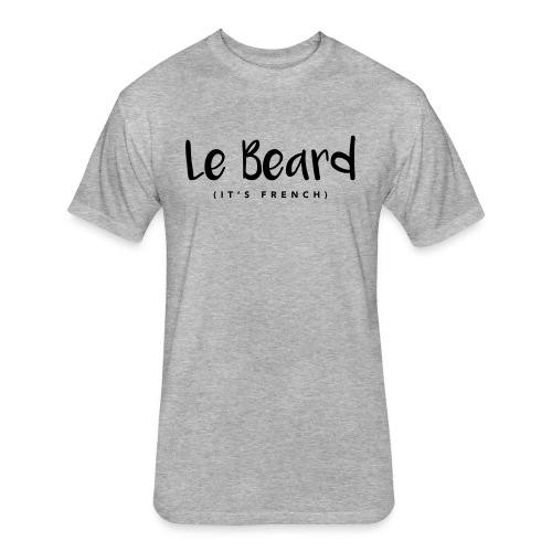 Le Beard Tee (White) - Fitted Cotton/Poly T-Shirt by Next Level