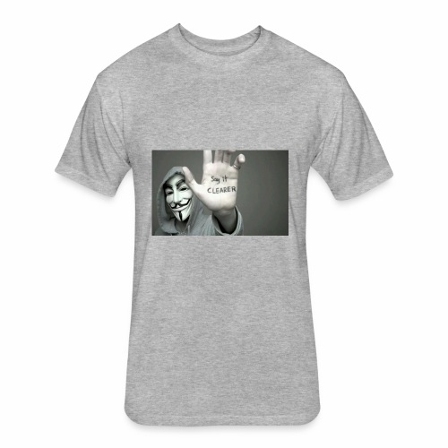 ANONYMOUS PRINTED T-SHIRT FOR MEN - Fitted Cotton/Poly T-Shirt by Next Level