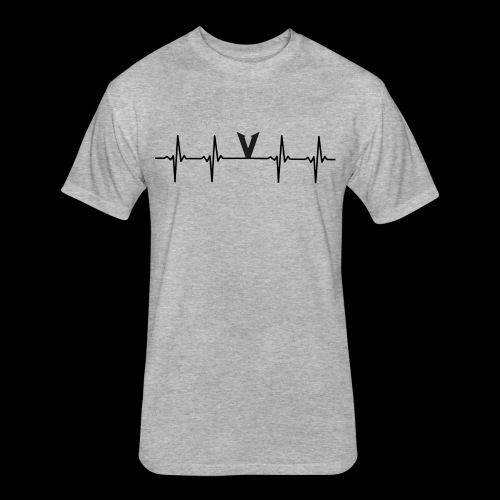 V EKG - Fitted Cotton/Poly T-Shirt by Next Level