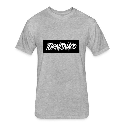 Turntsnaco - logo - Fitted Cotton/Poly T-Shirt by Next Level